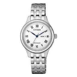 Citizen Laides Automatic Watch Silver Day Date_0