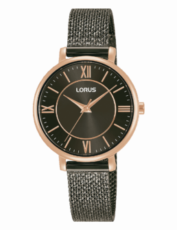 Rose Gold and Black Laides Dress Watch_0