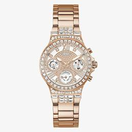 Guess Rose Gold Tone Ladies Moonlight Stone Set Watch_0