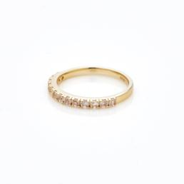 Rose Quarts Eternity Style Ring Gold Plated_0