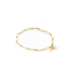 Dutchess Bracelet Fob Chain Link Sterling Silver Gold Plated_0