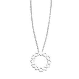 Hearts Round Necklace_0