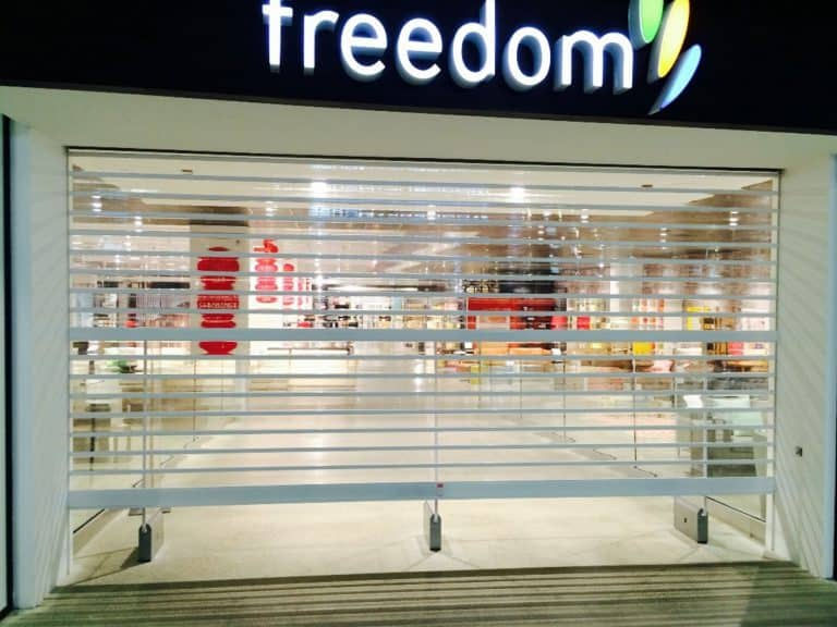 DFO Homebush Clearvision Roller Shutters main