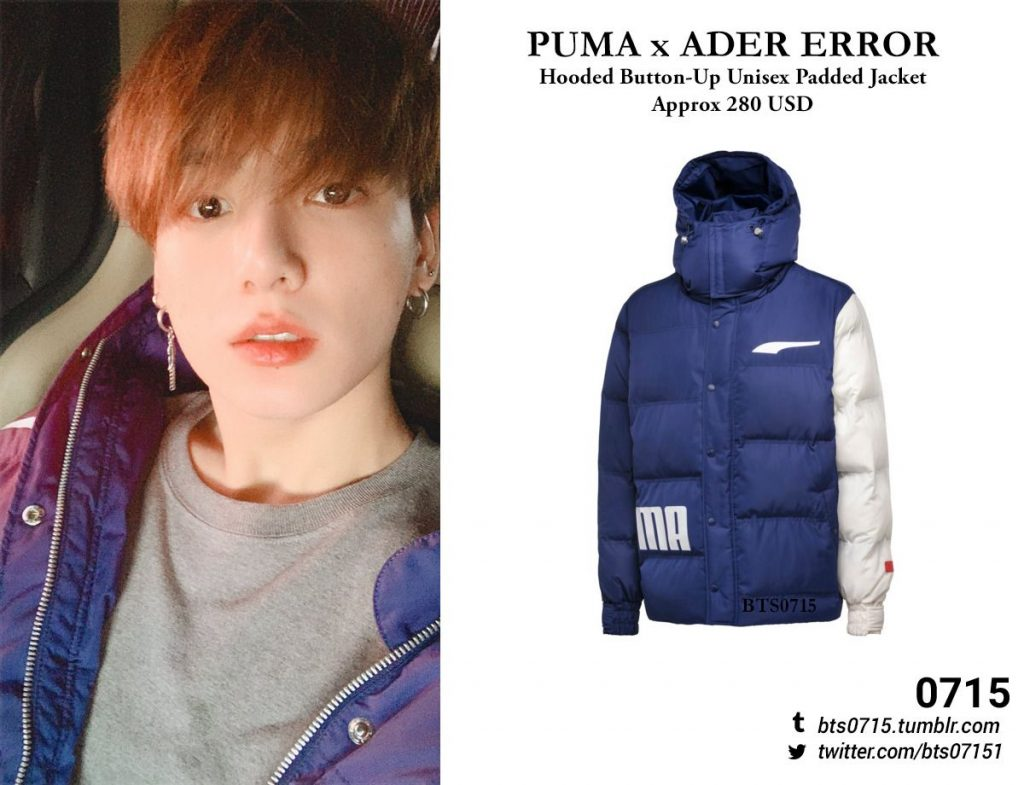 Korean Streetwear, Jungkook (BTS) wearing ADER Error