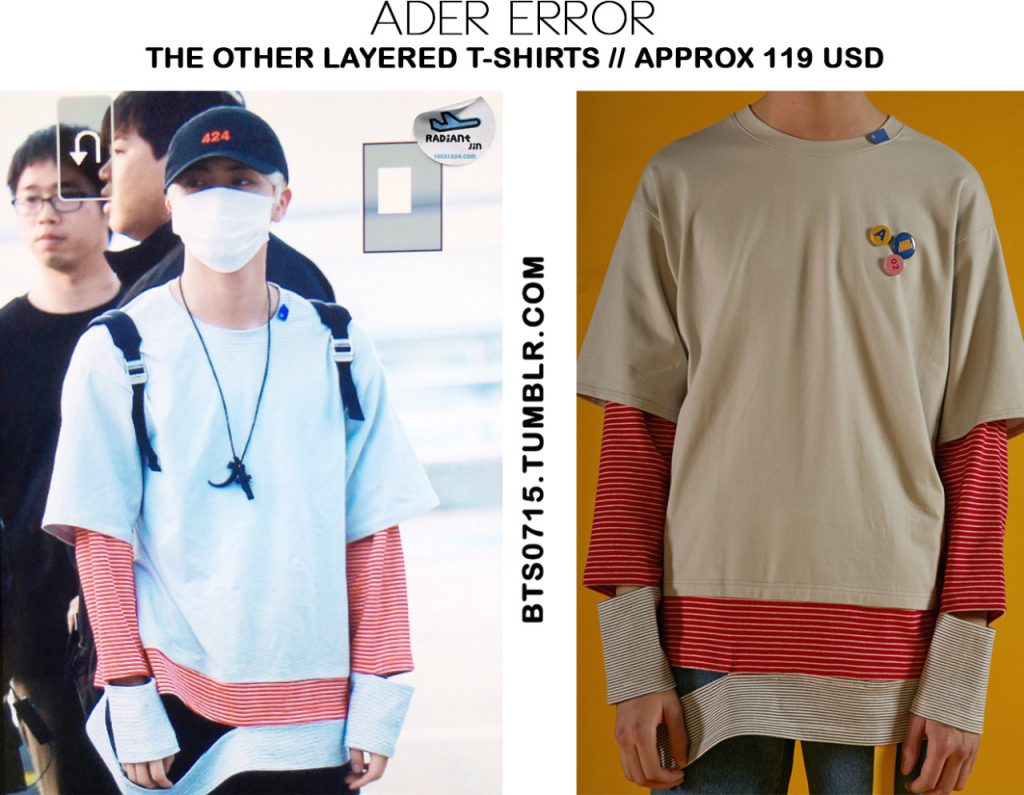 Jin (BTS) wearing ADER Error