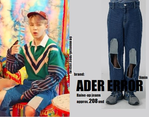 Jimin (BTS) wearing ADER Error