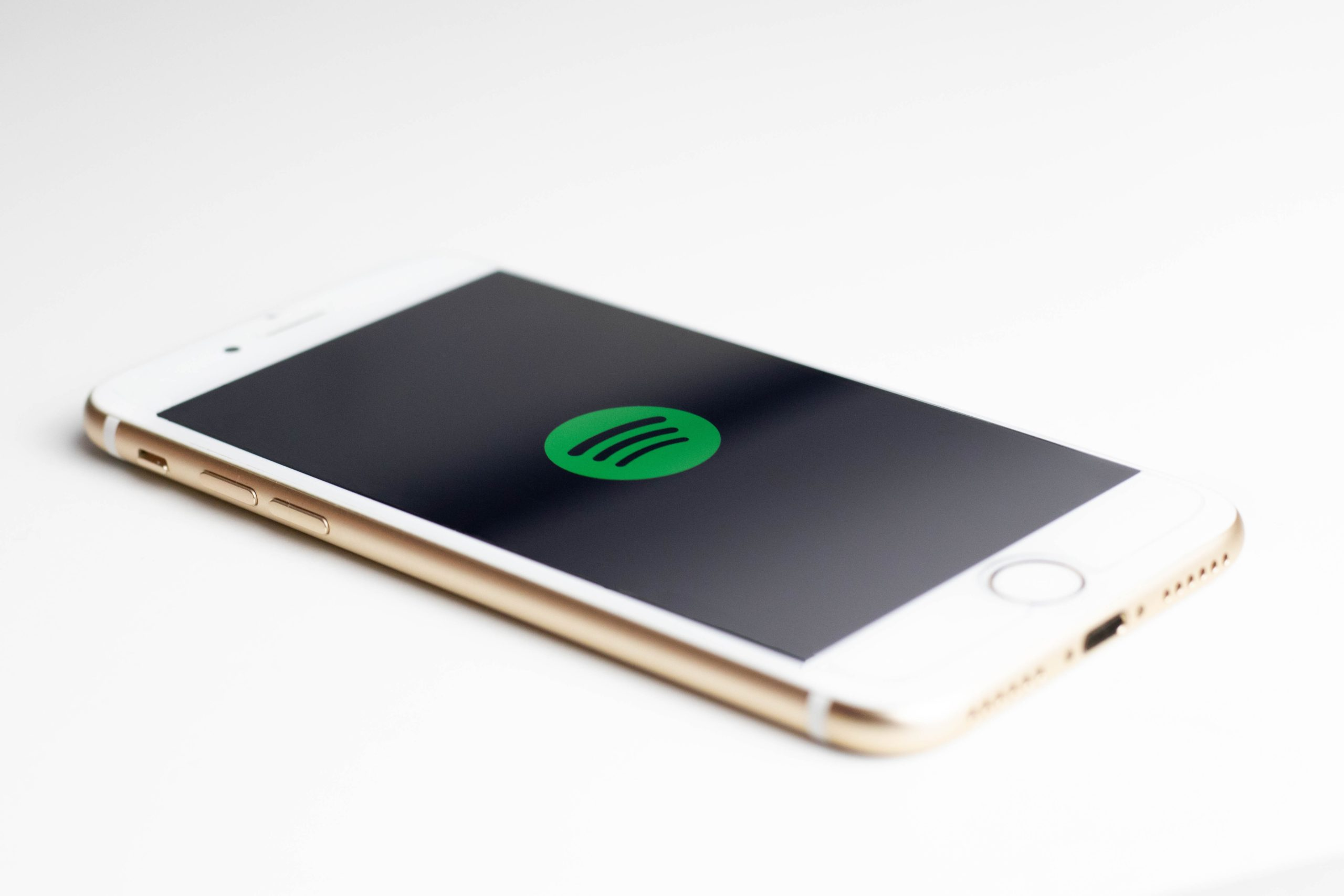spotify logo on an iphone
