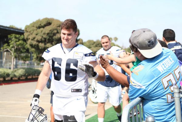 Chargers Training Camp Dan Feeney, Chargers offensive line