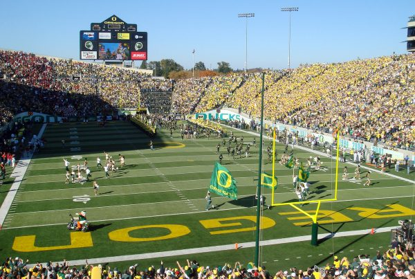 University of Oregon Autzen Stadium
