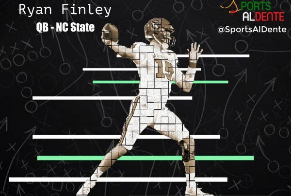 Ryan Finley NFL Draft Profile. Photo Credit: Pack Insider | Sports Al Dente Illustration