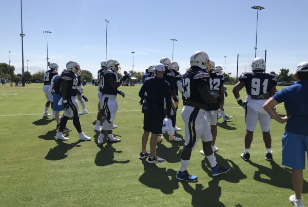 Chargers Defensive Line At 2019 Training Camp. Photo Credit: Ryan Dyrud | The LAFB Network