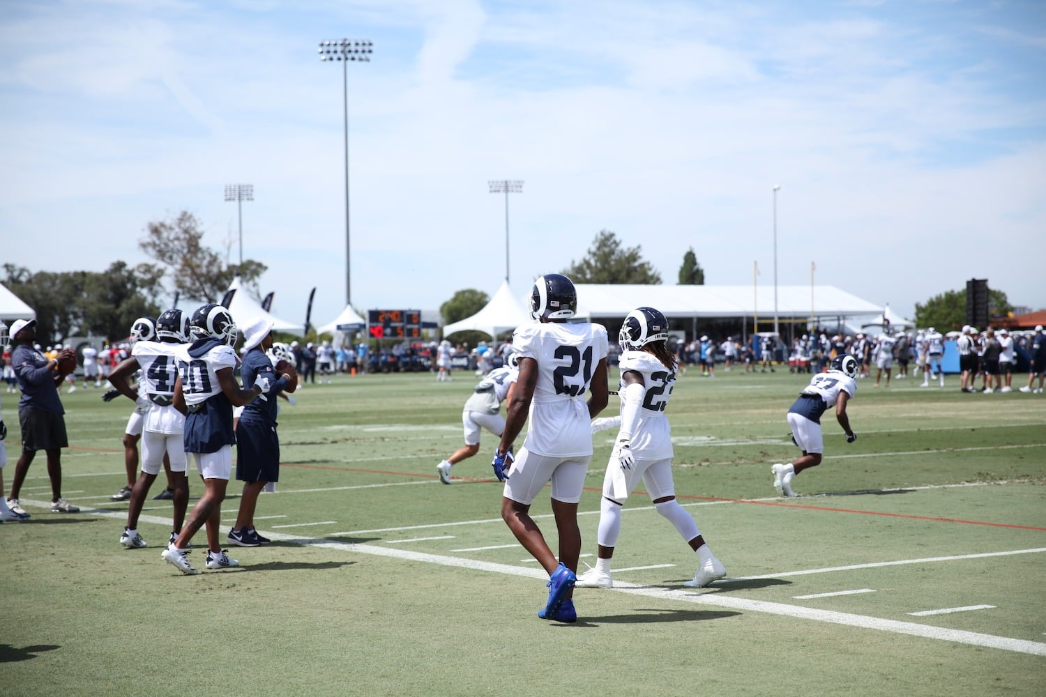A Narrative Take On Rams And Chargers Joint Practice