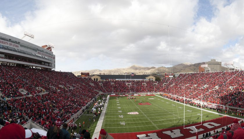 Rice-Eccles Stadium, Home Of The Utah Utes. USC And Utah Square Off On Friday Night. Photo Credit: Sam Klein   Under Creative Commons License