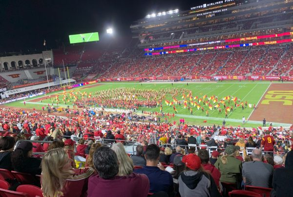 Trojans Dominate Wildcats. USC Trojans Vs Arizona Wildcats
