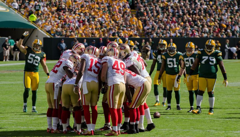 San Francisco 49ers Vs Green Bay Packers In 2012. Photo Credit: Mike Morbeck | Under Creative Commons License
