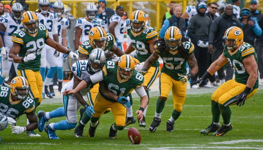Green Bay Packers vs Carolina Panthers. Photo Credit: Mike Morbeck | Under Creative Commons License