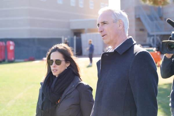 Los Angeles Wildcats President Heather Brooks Karatz with XFL Commissioner Oliver Luck. Photo Credit: XFL Wildcats B-Roll