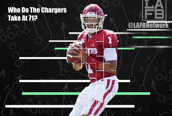 NFL Quarterback Prospect Jalen Hurts. Photo Credit: Sooner Sports | LAFB Network Graphic