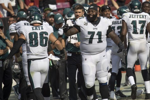 NFL Left Tackle Jason Peters. Photo Credit: KA Sports Photos   Keith Allison   Under Creative Commons License