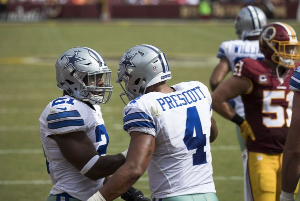 Cowboys QB Dak Prescott And Running Back Ezekiel Elliott. Photo Credit: KA Sports Photos | Under Creative Commons License