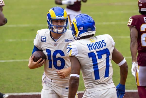 Los Angeles Rams Quarterback Jared Goff and Wide Receiver Robert Woods. Photo Credit: All-Pro Reels | Under Creative Commons License