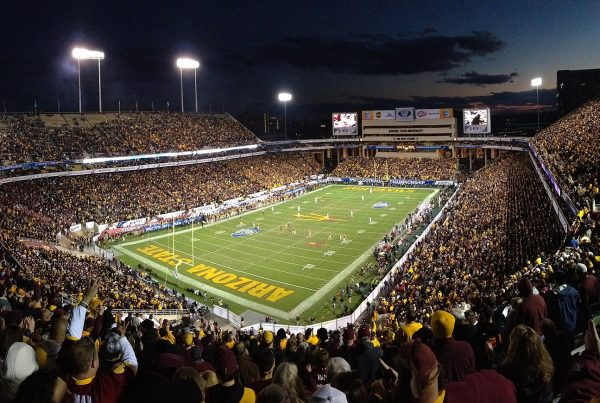 Sun Devil Stadium. Photo Credit: Wikimedia Commons