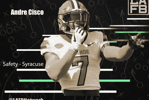 Syracuse Safety Andre Cisco. LAFB Network Graphic.