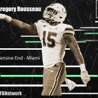 Gregory Rousseau NFL Draft Profile. LAFB Network Graphic.
