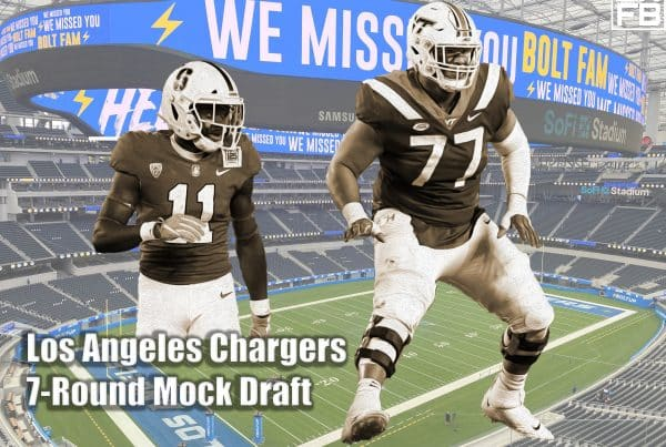 Los Angeles Chargers 7-Round Mock Draft. LAFB Network Graphic