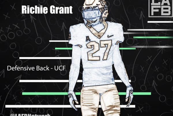 UCF Defensive Back Richie Grant. Photo Credit: Phelan M. Ebenhack | AP Photo | LAFB Network Graphic