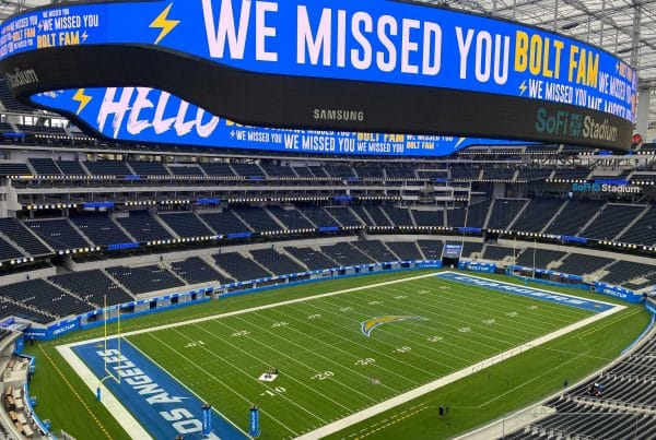 Los Angeles Chargers Home Field At SoFi Stadium. Photo Credit: Dan Wolkenstein | Chargers Unleashed Podcast | LAFB Network