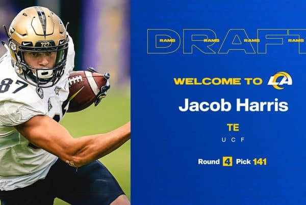Los Angeles Rams Tight End / Wide Receiver Jacob Harris. Photo Credit: Los Angeles Rams Team Site
