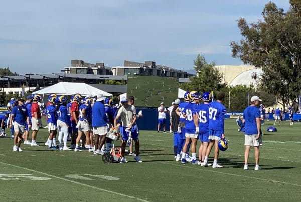 Los Angeles Rams Offense During 2021 Training Camp. Photo Credit: Ryan Dyrud | LAFB Network