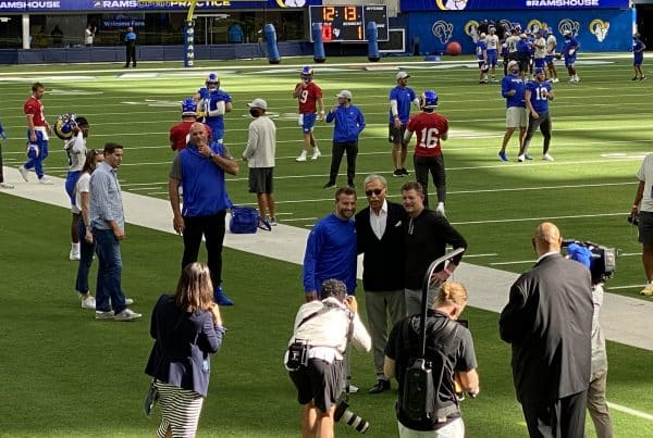Los Angeles Rams Power Players On The Sideline During Open Practice. Photo Credit: Ryan Dyrud | LAFB Network