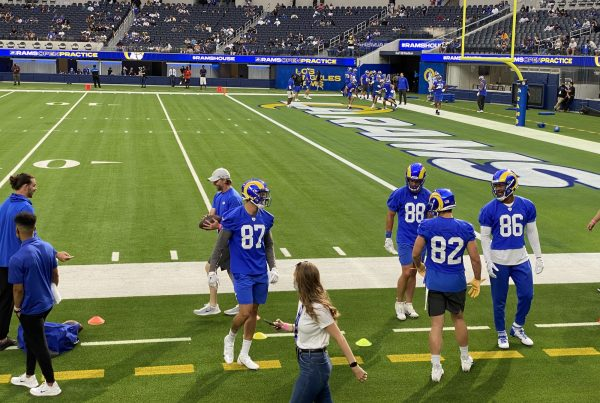 Los Angeles Rams Tight Ends. Photo Credit: Ryan Dyrud | LAFB Network