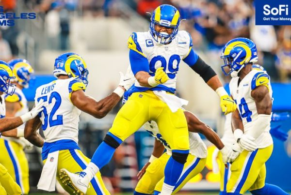 Aaron Donald And The Rams Defense Against The Chicago Bears. Photo Credit: Brevin Townsell | LA Rams