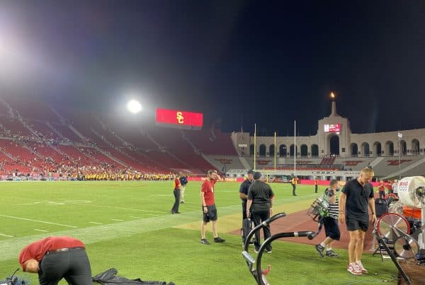 The Los Angeles Coliseum After The USC Trojans Played The Stanford Cardinal. Photo Credit: Ryan Dyrud | LAFB Network