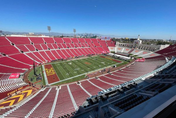 The USC Trojans Host The San Jose State Spartans At The Coliseum. Photo Credit: Ahmad Akkaoui | LAFB Network