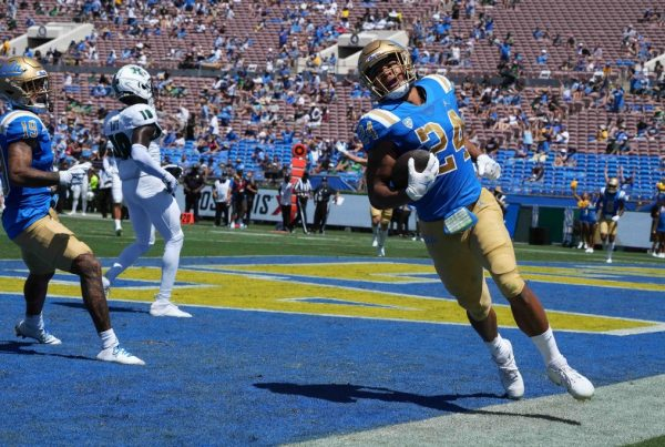UCLA Bruins running back Zach Charbonnet. Photo Credit: Kirby Lee -USA TODAY Sports
