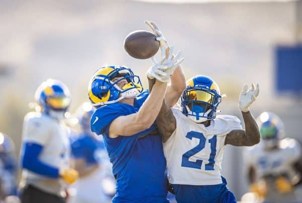 Los Angeles Rams Hit The Practice Field Ahead Of Their Week 6 Matchup Against The New York Giants. Photo Credit: Brevin Townsell | LA Rams
