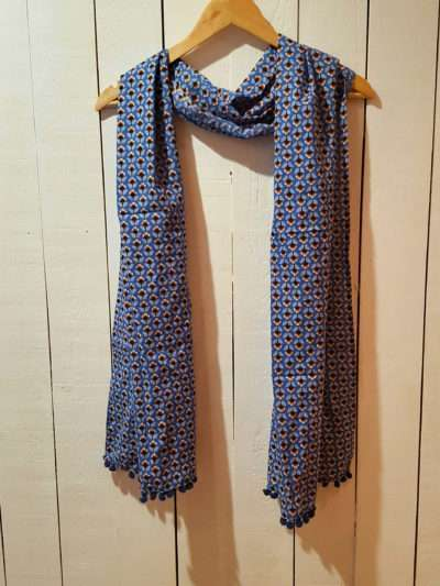 Foulard Bla-Bla, Clam blue, www.LaTribu.shop (1)