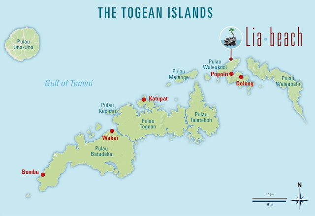 Map of Togean Islands
