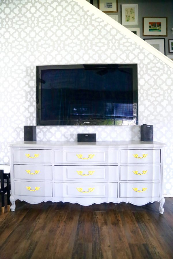 DIY tv stand from an old dresser