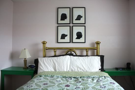 DIY silhouettes hanging in room