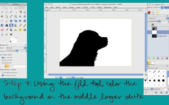 How to make a silhouette step 7