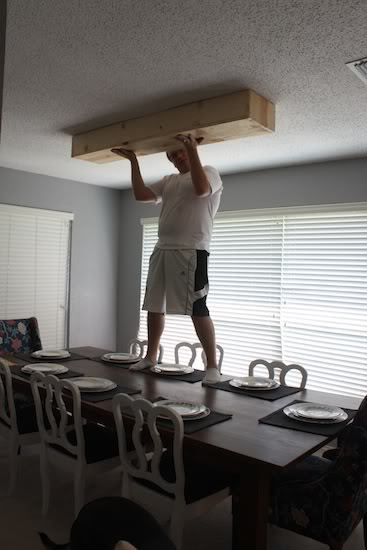 Testing dimensions for DIY light fixture