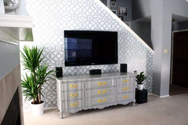 easy accent wall stencil