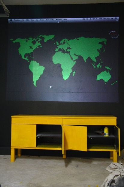 Using a projector to make a mural