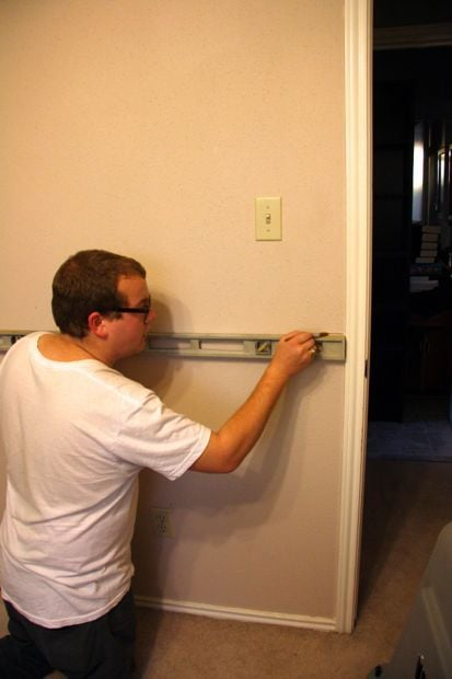 Installing molding in a room