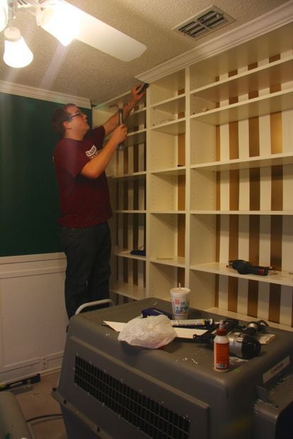 adding trim to Billy bookcases